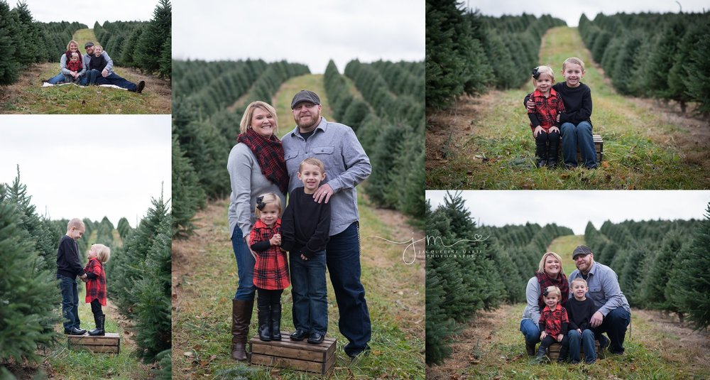 Columbus OH family photography, Christmas sessions at tree farm, outdoor Christmas photography, Columbus OH photographer