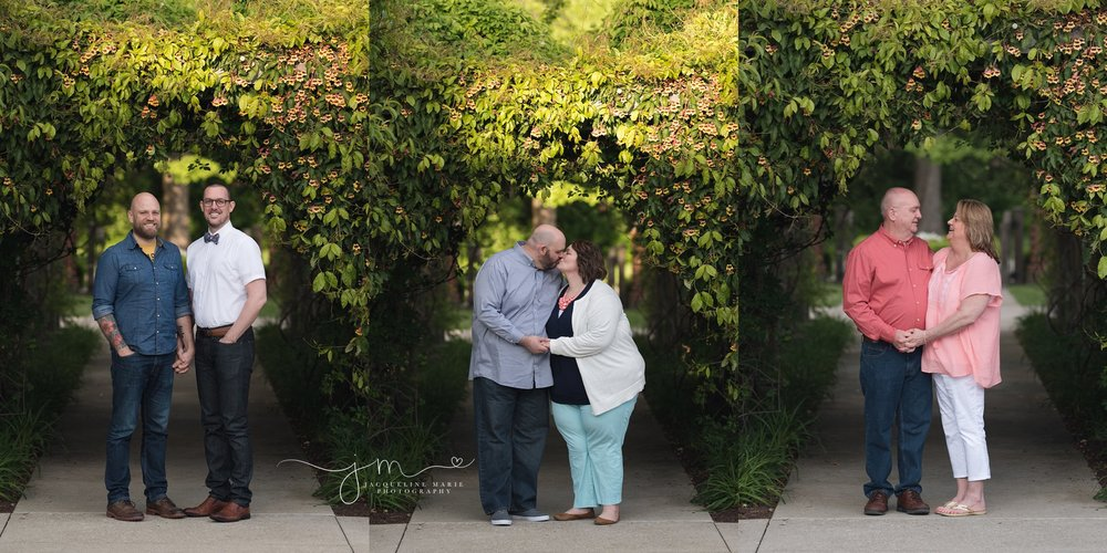 columbus ohio family photography features images of couples sharing love and kisses at franklin park conservatory