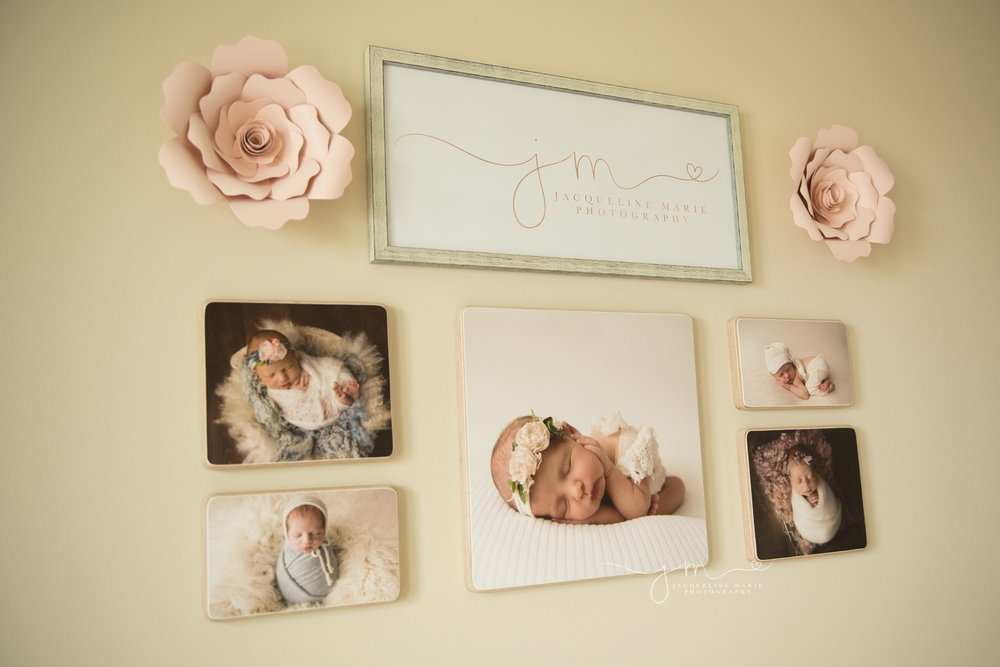 newborn photography studio inspiration with soft pastel and neutral colors