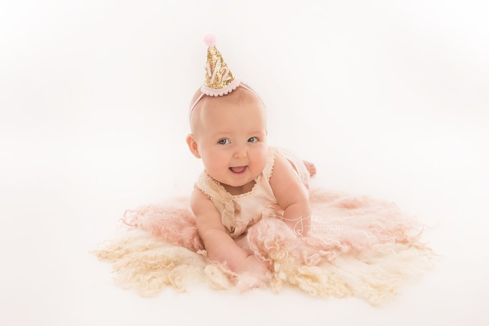 6 month milestone photography celebration for half birthday in Columbus ohio