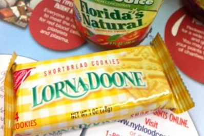 "Lorna Doones.  The main reason I donate blood.  I mean ""saving lives..."" that's it."