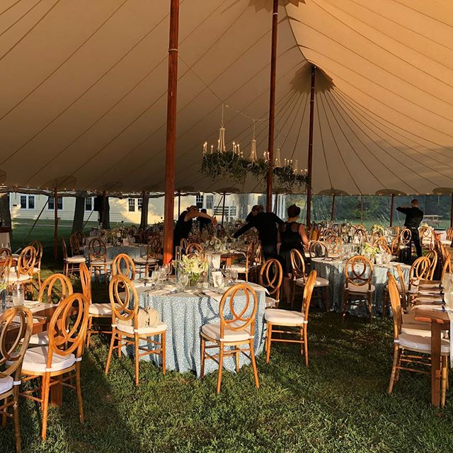 Almost time for dinner under the big top. #Maine #Wedding