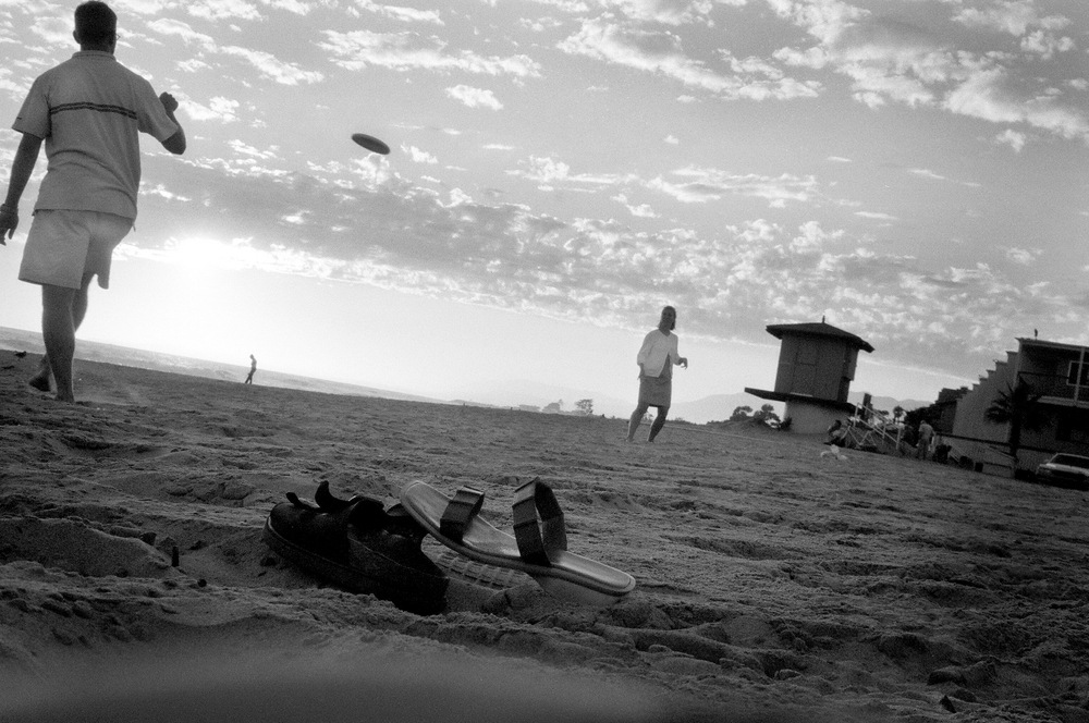 Frisbee in Santa Barbara.  September 2002.