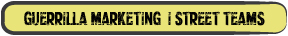 Guerrilla Marketing - Street Teams