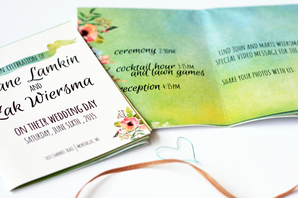 Folded Wedding Programs