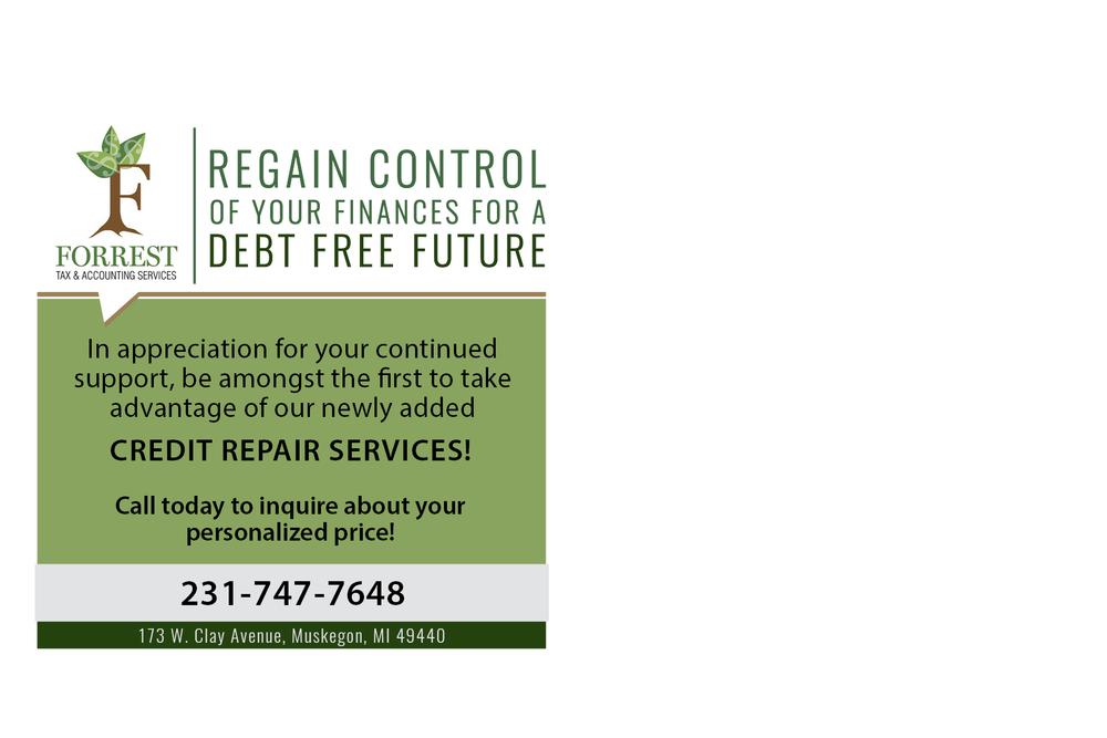Credit Repair Postcard - Back
