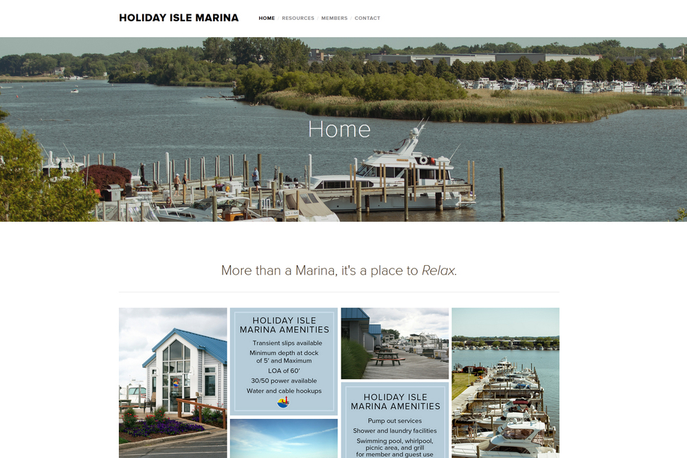 Holiday Isle Marina - Website