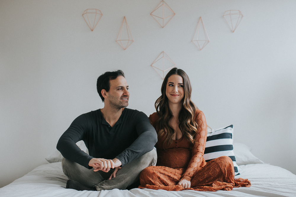 couples intimate stylish maternity session New york