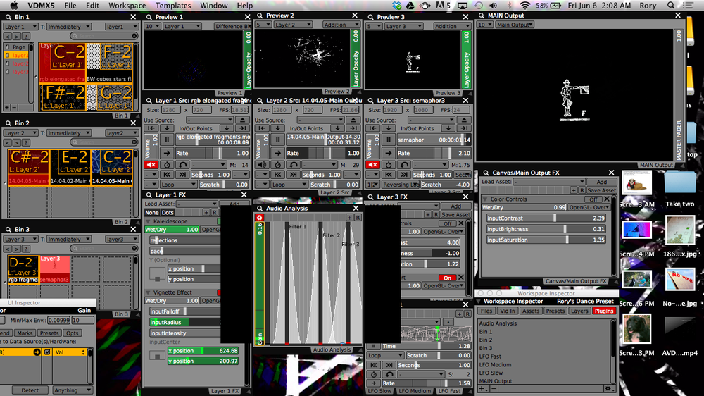 VDMX is mission control for the Semaphor3 lights.