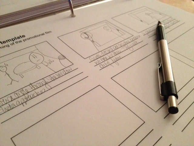 Storyboarding the new short UNDER A DARK STAR.