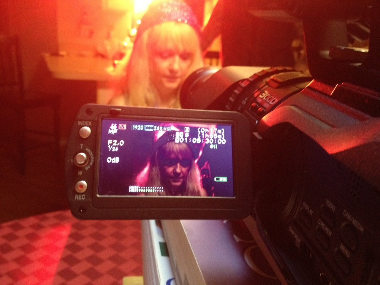 From yesterday's shoot: Linnea Quigley