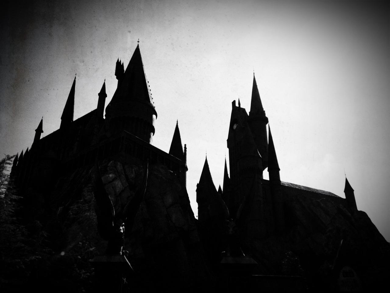 Hogwarts Castle silhouette.