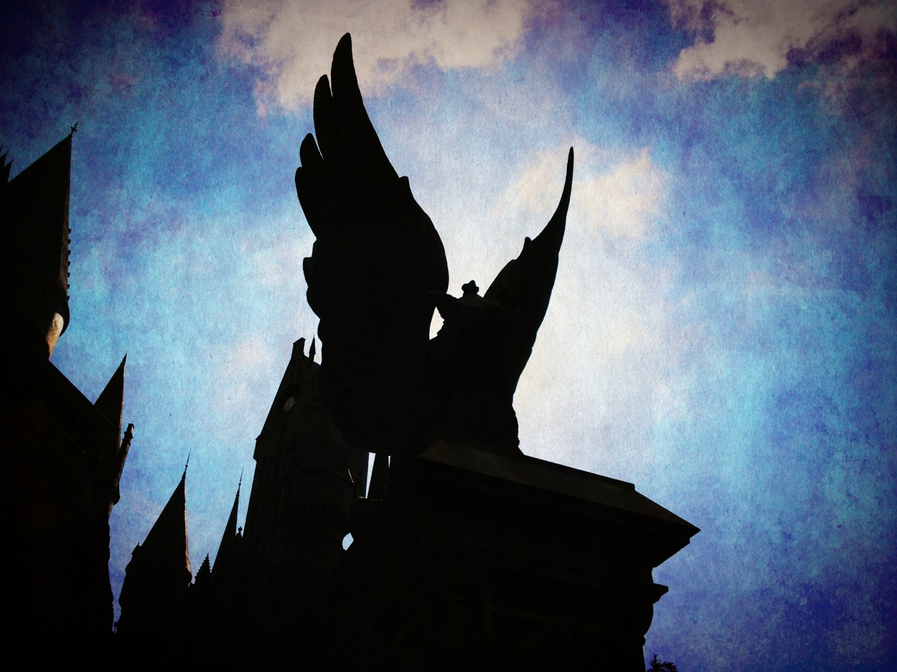 One of the winged hog things outside Hogwarts.