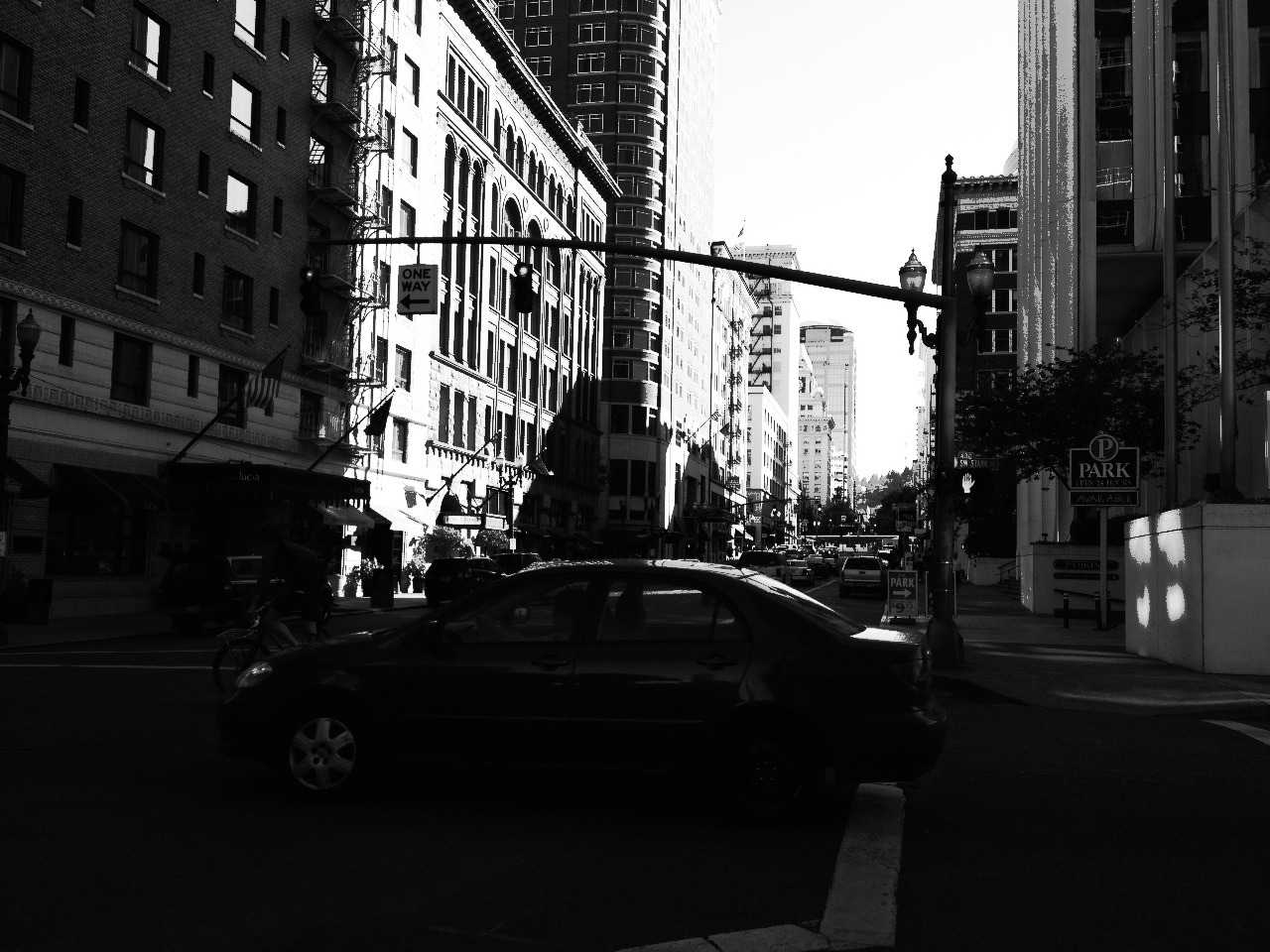 Messing around with other settings in a camera app I have. This was taken on Broadway in downtown Portland.