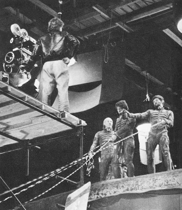 fuckyeahbehindthescenes :     The suits worn by the Guild members were body bags that were found in a disused fire station dating back to the early 1920's. The bags had actually been used several times, something that was kept from the cast members until after shooting was completed.    Dune (1984)