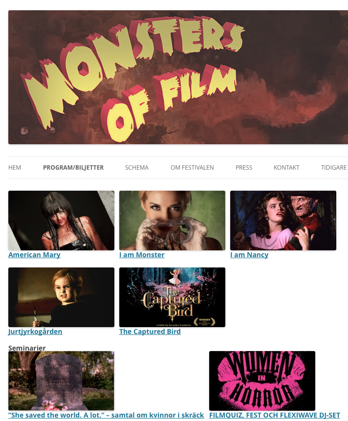 AH MAH GAH! The short film I made with  shannonlark ,  I am Monster , makes its European debut in Sweden on February 23 playing before Heather Langenkamp's wonderful documentary  I Am Nancy !   To say that I'm geeing out is an understatement, but I have to play it cool because Professionalism Wow!