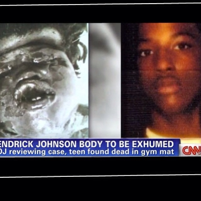 "andrewbrownbear: gabriellejae: deerhoof: friendlycloud: trungles: angeleesworld: smileystwocents: It's amazing to me how many ""ear to the ground"" folks I know have spent so ugh time posting about Beyoncé but still aren't spreading awareness about #kendrickjohnson . This 17 year old #blackboy was killed on school grounds in #Valdosta Georgia and everyone from the school to the cops to the coroner to the funeral home to the media is complicit in the #coverup . #CNN has been the only news outlet that has followed the story and tried to get the family some answers. HELLO PEOPLE this #blackbody is symbolic of how we as #blackpeople are still seen. THEY FILLED HIS BODY WITH NEWSPAPER! Look at his face! They tried to say he only suffocated?! How when he looks like #emmettill ?! If you can post about how wonderful Beyoncé is or anything else THEN SURELY you can share this story and spread awareness. The coverup is only working because people aren't informed. The more people know, the more pressure can be put on the town. The US Attorney and FBI are involved but it's not enough. Where are his rallies? His songs? His poems? Why is his image not being shared across the country? Across the world? Where is the #outrage Oh my God. Bless his soul Oh my fuck. They removed brains and other organs and filled him with newspaper and school authorities are still trying to convince people it was a freak accident. WTF here's some horrifying facts: his body, when recovered, had all organs removed so a second autopsy couldn't determine cause of death he was found rolled up in a gym mat between benches camera footage has been tampered with, so there is no recording of the gym or the entrances to tell who entered (but suspiciously were active just long enough to show the victim entering) school has been late with all requested information this is not fucking okay this just broke my heart HOW WAS THIS RULED ACCIDENTAL HE WAS FILLED WITH FUCKING NEWSPAPER"