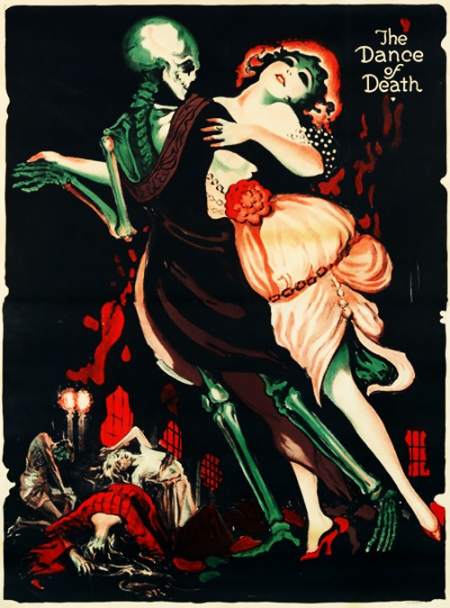 vintagegal :      Poster by   Josef Fenneker for the lost Fritz Lang film   Totentanz  , 1919      Oooh…pretty pretty poster…