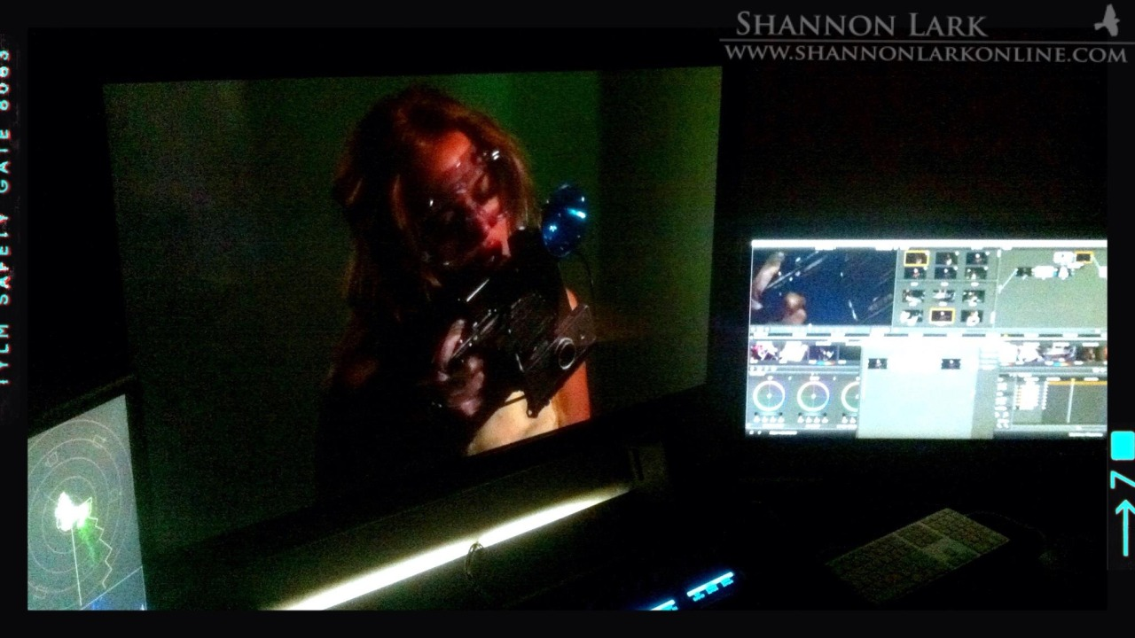 "shannonlark: Lark's Moxie- 2nd day of color correction for ""I am Monster"". #‎larksmoxie I can't wait to share this movie with y'all, even though that'll be after the festival run…lol It's amazing and Shannon, Adam, Jeff, and Katie are all amazing in it."