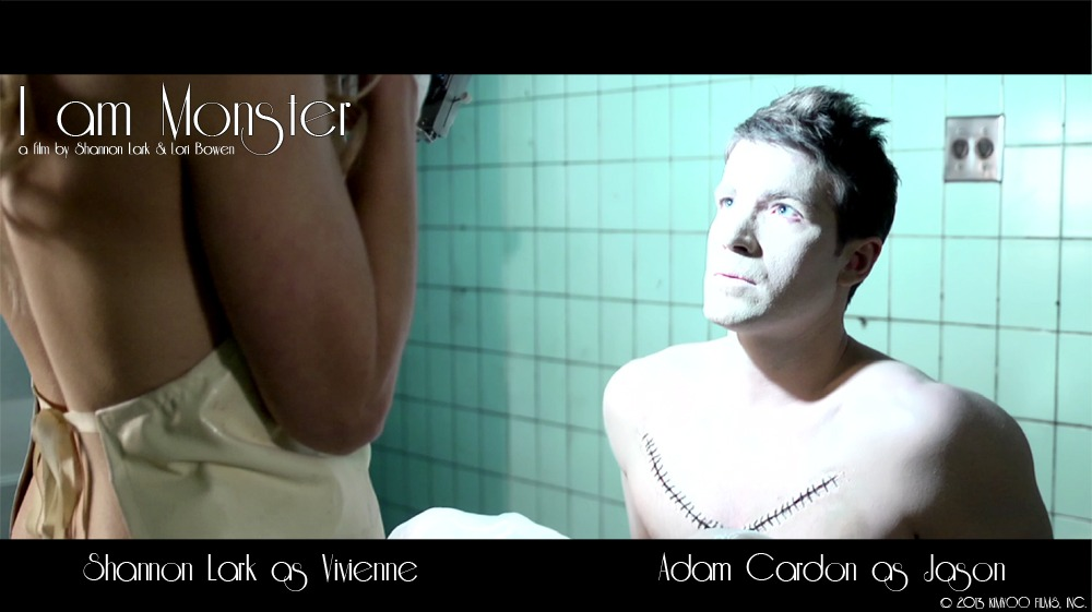 shannonlark :     I AM MONSTER, a film directed by Shannon Lark and Lori Bowen.   Cinematography by Jim Kunz and Brian Davis.   Starring Shannon Lark as Vivienne and Adam Cardon as Jason.      There are quite a few more gorgeous screencaps on the Facebook page !