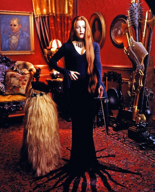 beautilation :     Gillian Anderson as Morticia Addams      Wow… I adore The Addams Family and never would've thought Gillian Anderson would make a good Morticia, but I stand corrected…even if she were to keep the red hair. I wish I'd seen this when the image first came out, but better late than never. Thanks Tumblr!