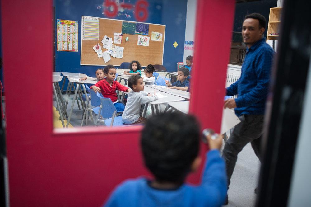 La Communauté érythréenne de Montréal offre deux cours de langue de niveau différent aux enfants pour qu'ils puissent apprendre à écrire et à lire le tigrigna.