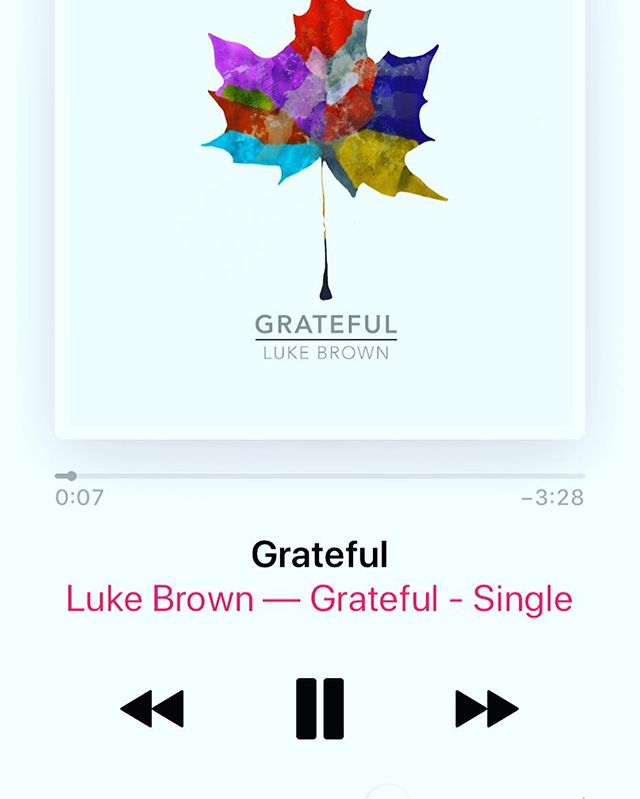 "So, I'm pretty horrible about letting people know what I'm up to. Especially in the social media world. So here ya go, I released a song a while back.... and I'll be releasing more soon. Check out ""Grateful"" to get a taste. Link in bio."