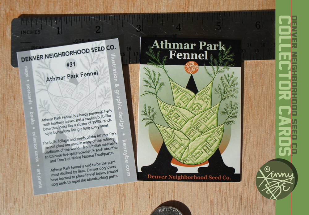 Free Denver Neighborhood Seed Co. Collector Cards available only at the Stompin' Ground Games!
