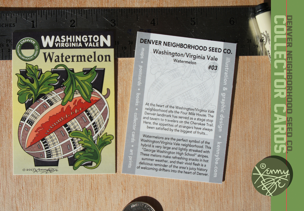 The Washington/Virginia Vale story is told on the flip side of the Denver Neighborhood Seed Co. Collector Card #03.