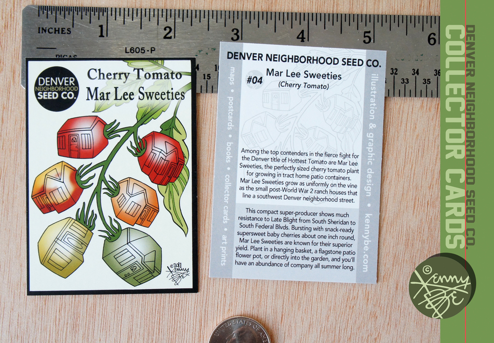 Mar Lee Sweeties Cherry Tomato Collector Card #4, front and back.