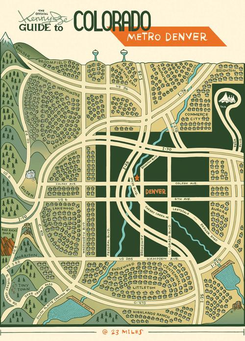 Metro Denver Map.Denverland Kenny Be Art