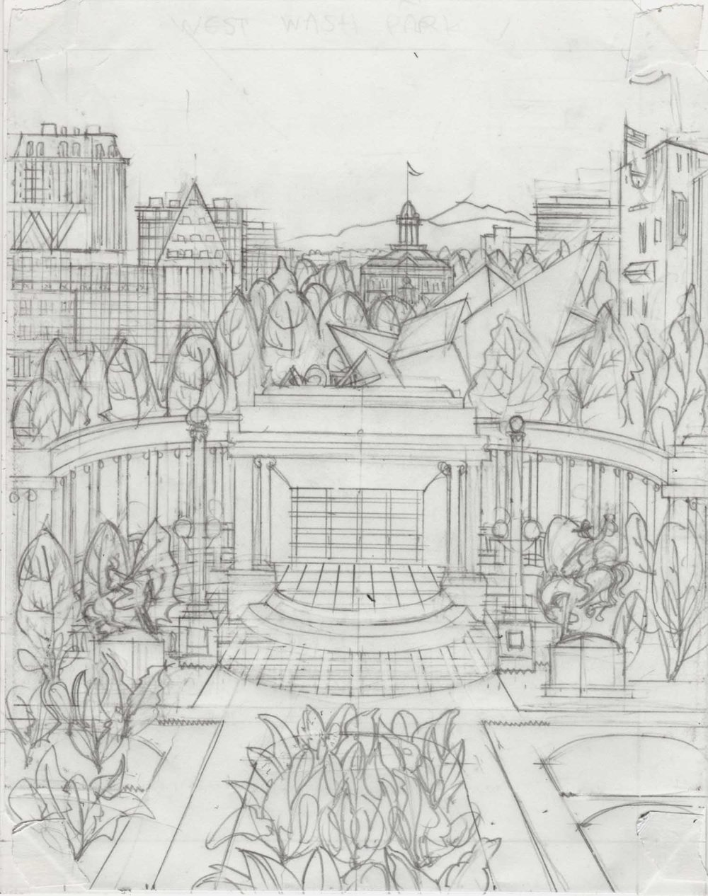 2. Civic Center Golden Triangle Spinach Denver Neighborhood Seed Company Kenny Be Art & Design kennybe.com Original Pencil.jpg