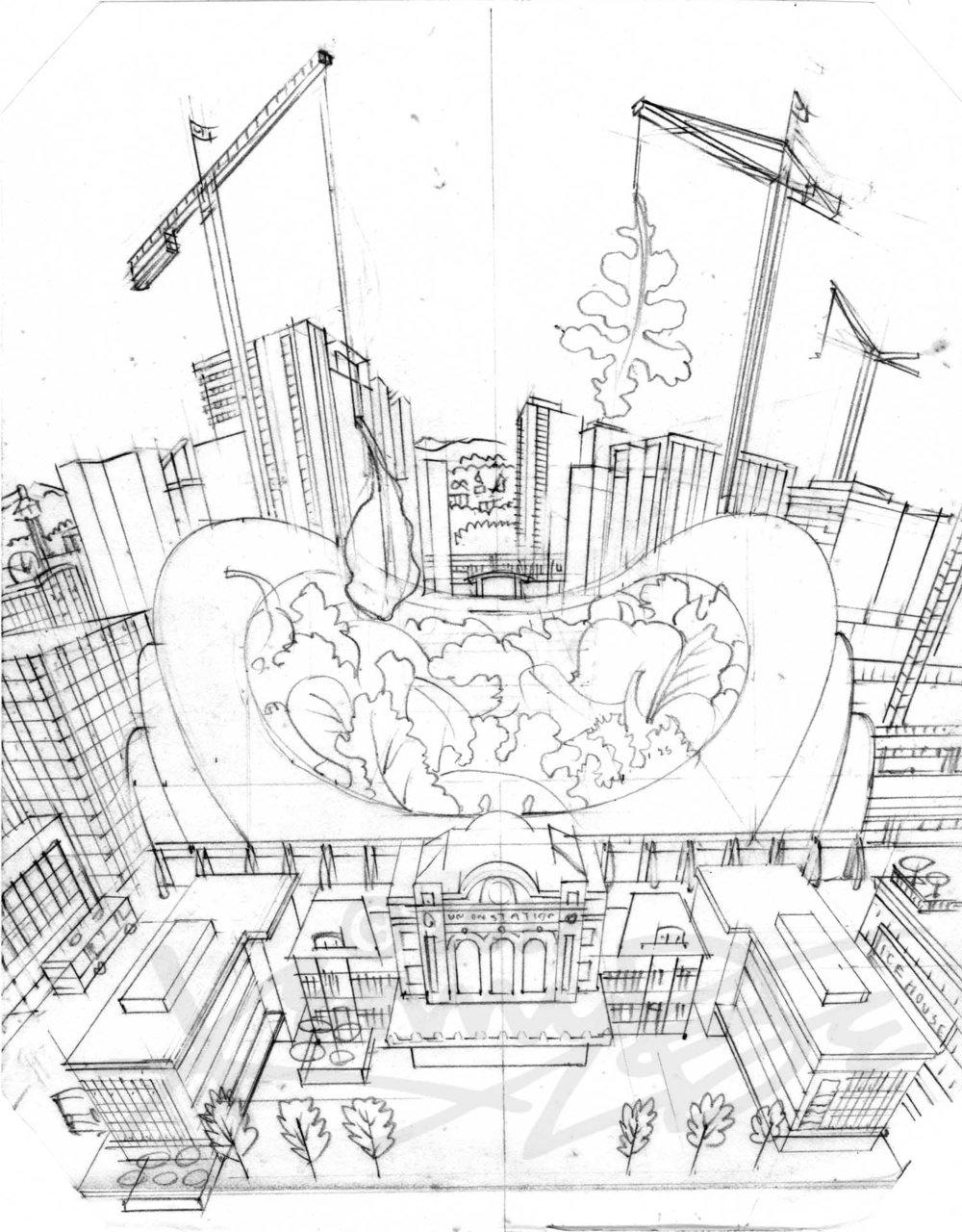 2. Union Station Mesclun Denver Neighborhood Seed Company Kenny Be Art & Design kennybe.com Original Pencil.jpg