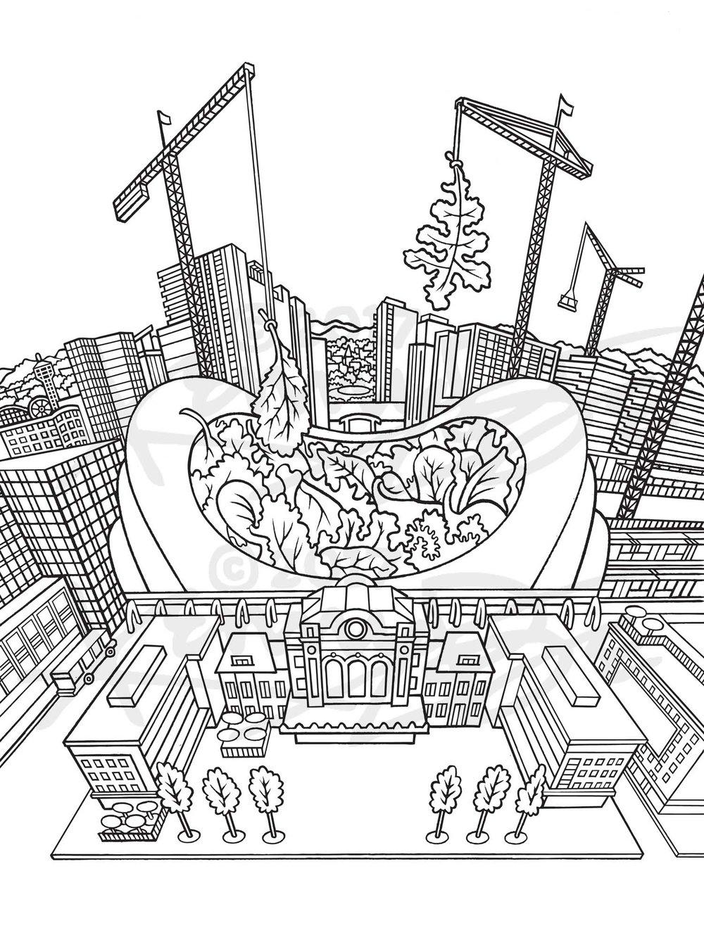 3. Union Station Mesclun Denver Neighborhood Seed Company Kenny Be Art & Design kennybe.com BW Line Art.jpg