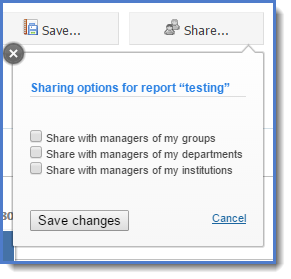 Figure 6 : share the report with members of the core.