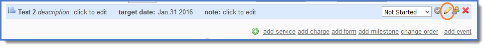Figure 10: Click the pencil icon to edit.