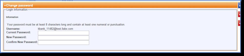Figure 3 : Change your password.