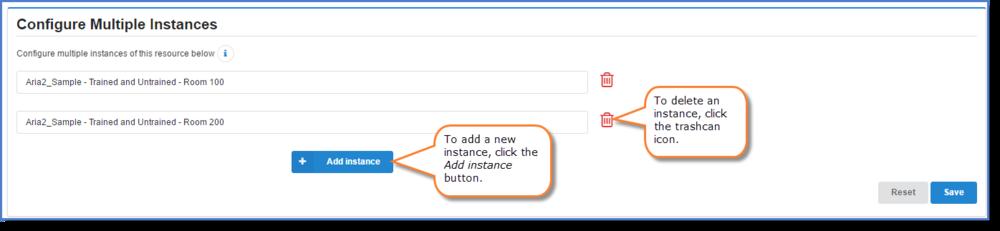 Figure 6:Configuring multiple instances