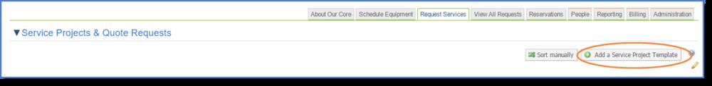 Figure 1:Add a Service Project Template