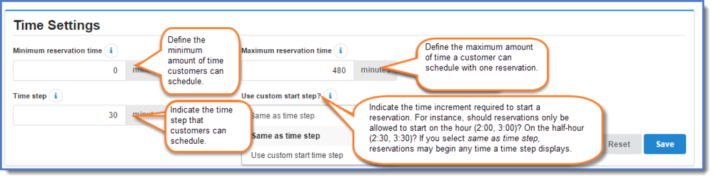 Figure 2: Time settings