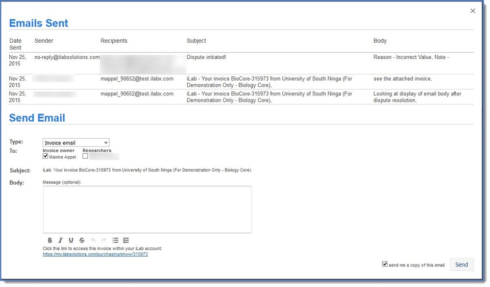figure 5 email history - What Does An Invoice Look Like