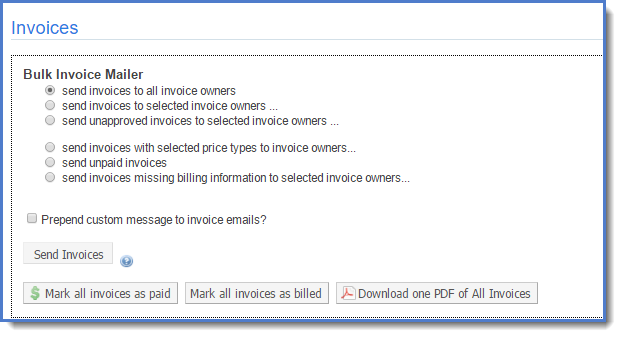 Figure 4: Select to whom you would like to send invoices.