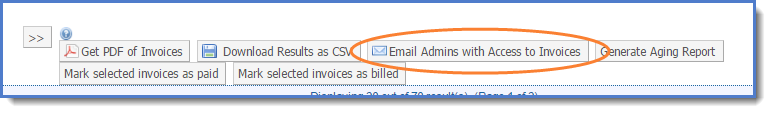 Figure 6: Select Email Admins with Access to Invoices.