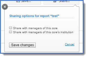 Figure 7: Share a report.