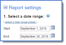 Figure 3 : Select a date range.