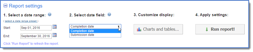 Figure 4 : Select date field.