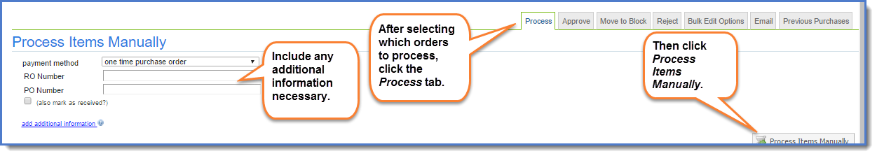 Figure 5:  Process your orders.