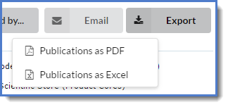 Figure 4: You may export the report to either an Excel spreadsheet or a .pdf.