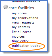 Figure 1: Publication tracker link.
