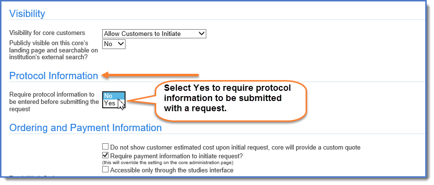 Figure 3: Edit the Protocol Information setting.